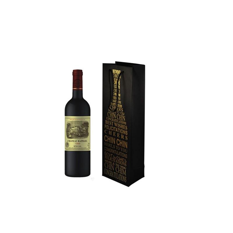 Popolare custom made regalo bottiglia di vino sacchetto di carta mercato a guangzhou