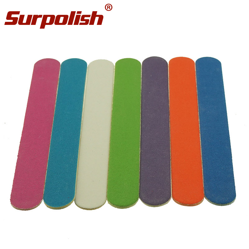 China Factory Colorful Mini Wood Nail Files Disposable Nail Files, White;blue;orange;and customized