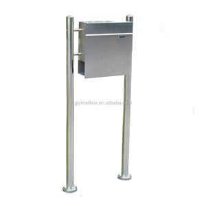 Wrought Stainless Steel Free Standing Residential Mailboxes With Posts