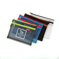 Custom design different types of transparent plain nylon net A4 size file folders ziplock waterproof document bag