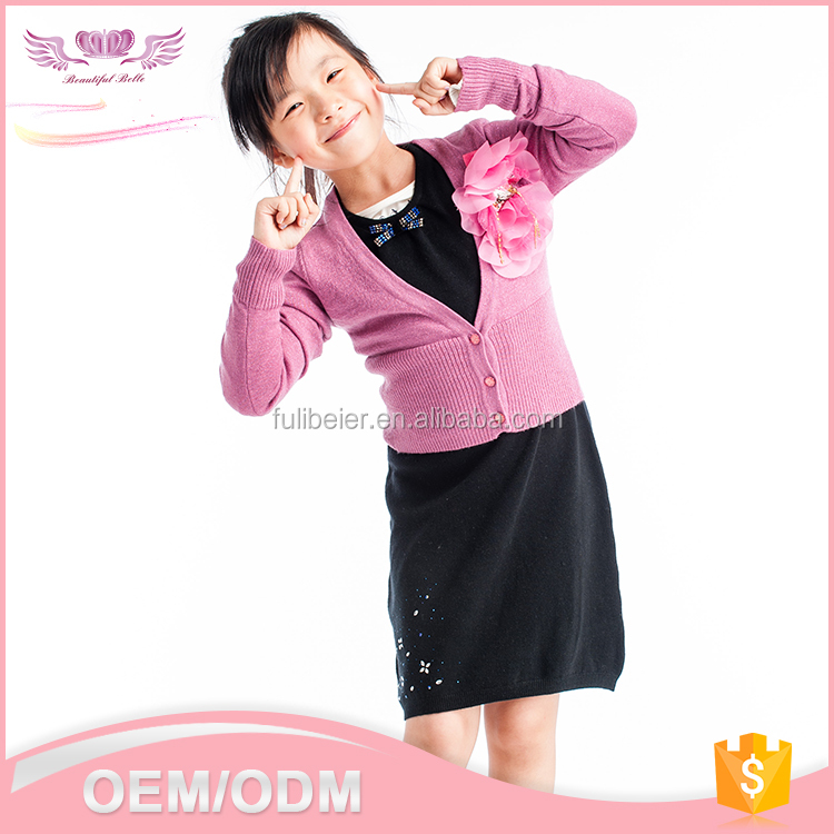 Latest fashion korean style long sleeve round collar crochet handmade knit wool sweater designs