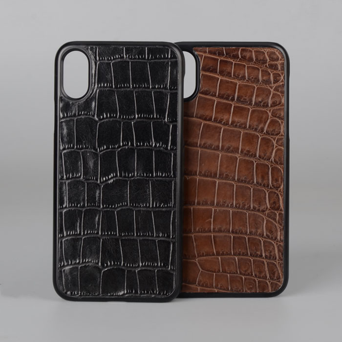 Shockproof Embossed Crocodile Pattern Cow Leather Phone Case Cover For I Phone 8 Case