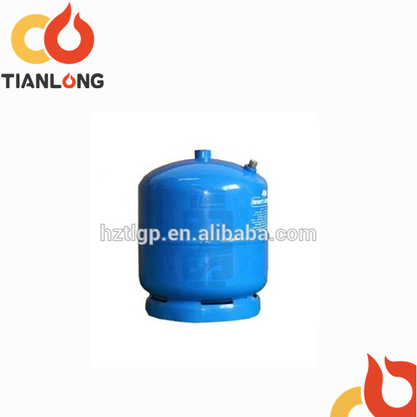 1kg/2.4L refilled camping steel lpg gas bottle for middle east