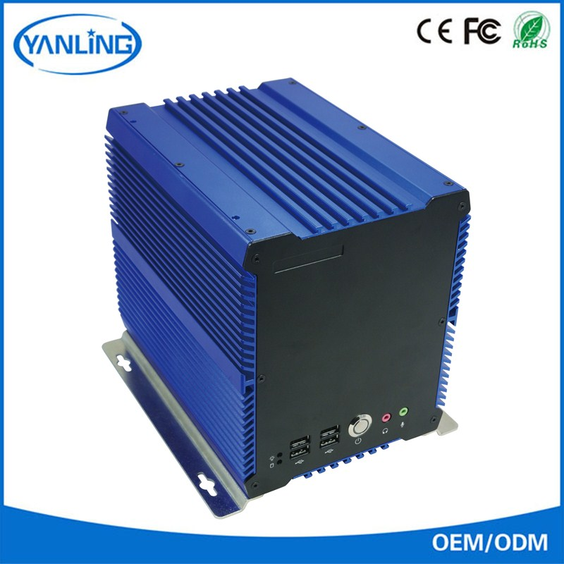 Blue box computer IBOX-704 fanless embedded pc with 4 PCI slot