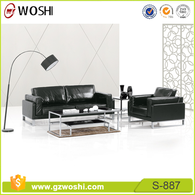 Charmant Elegantly Styled Leather Sofas With Solid Hardwood Frames Executive Leather  Office Furniture Sofa Set S887