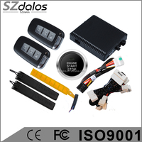 2017 New PKE Car Alarm With Remote Factory Push Button Start car alarm with sim card