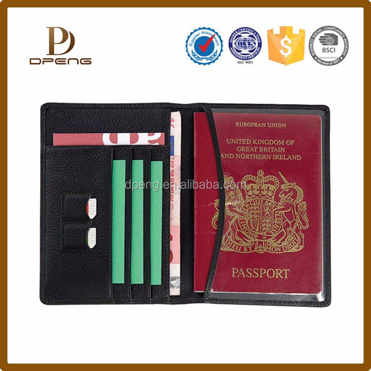 high quality fashion passport holder Custom Leather passport case