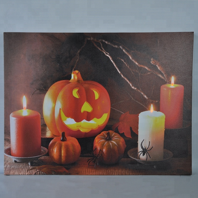 Best Selling Customized Halloween Led Canvas Art <strong>Picture</strong>
