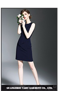 Women clothing elegant ladies summer dresses fashion model chiffon black dress