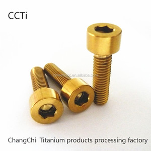 China factory CNC machine titanium allen head cap screw