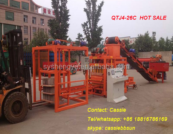 QTJ4-26C full automatic with pallet feeding system machines for making concrete block China supplier
