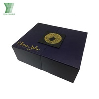 High quality luxury matte boxes printed logo hair extension packaging custom