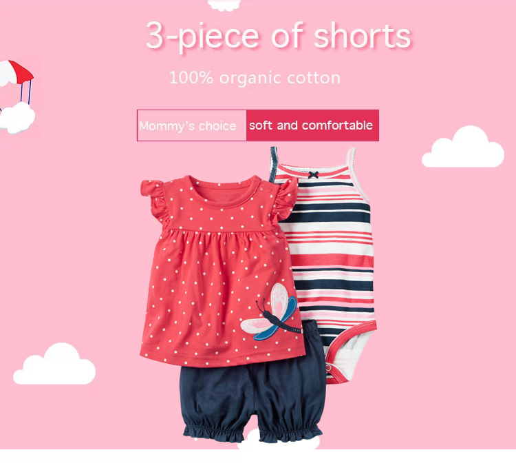 Summer cotton sleeveless baby girl plain romper infant floral jumpsuit clothing with lace