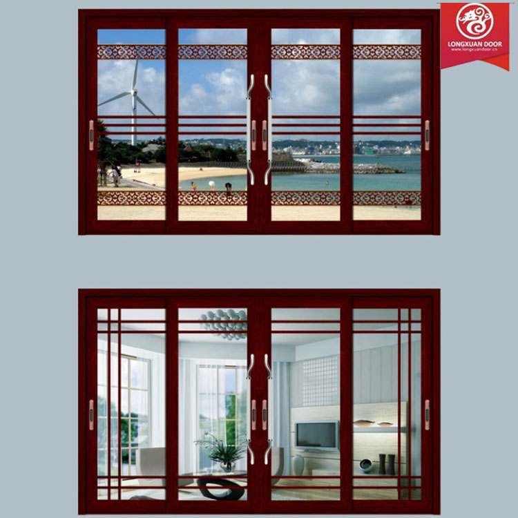 Full Screen View Door Window, Sliding Aluminium Glass Door and Window