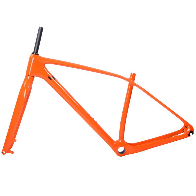 842a8db8c Freio a disco Legal laranja brilhante montanha carbono quadro de bicicleta  com quadro de bicicleta de carbono 29er garfo 29 com tamanho 15  17 19 21  ...