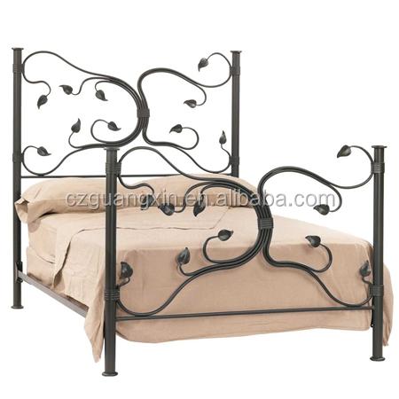 Cama de metal de hierro forjado cama Naturaleza inspirado Eden Isla ...