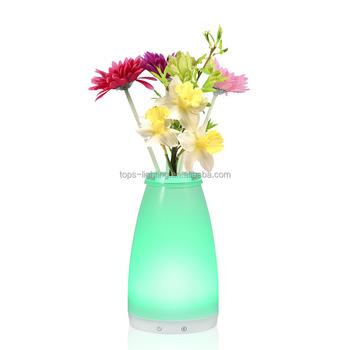 Modern Home Decoration Flower Vase Lamp Fiber Optic Flower Floor Lamp