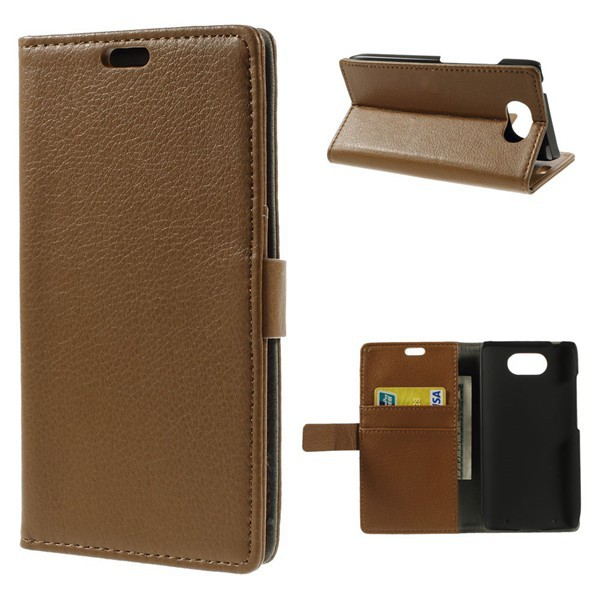 For Motorola XT1254 Case , Litchi Grain Leather Cover Case for Motorola Droid Turbo XT1254 With Stand
