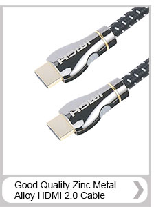 New premium Zinc Alloy Shell HDMI Cable male to male cable for HD TV, DVD