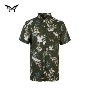 new look oem soft short sleeve male custom print button up shirts