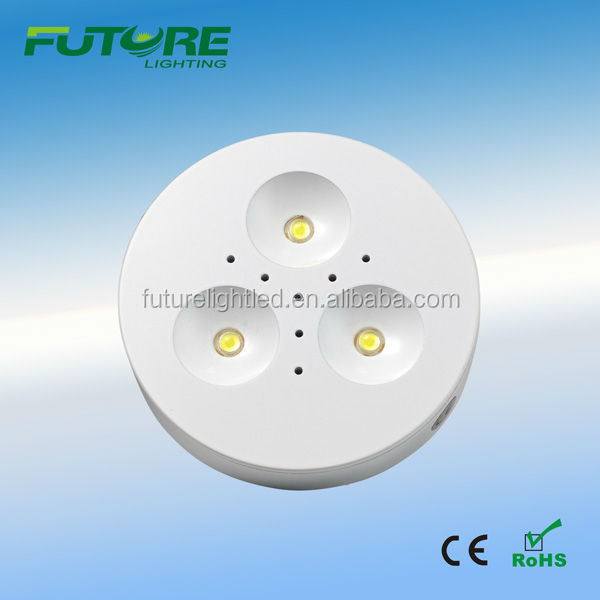 led ceiling light fixture with remote control puck led light 3w