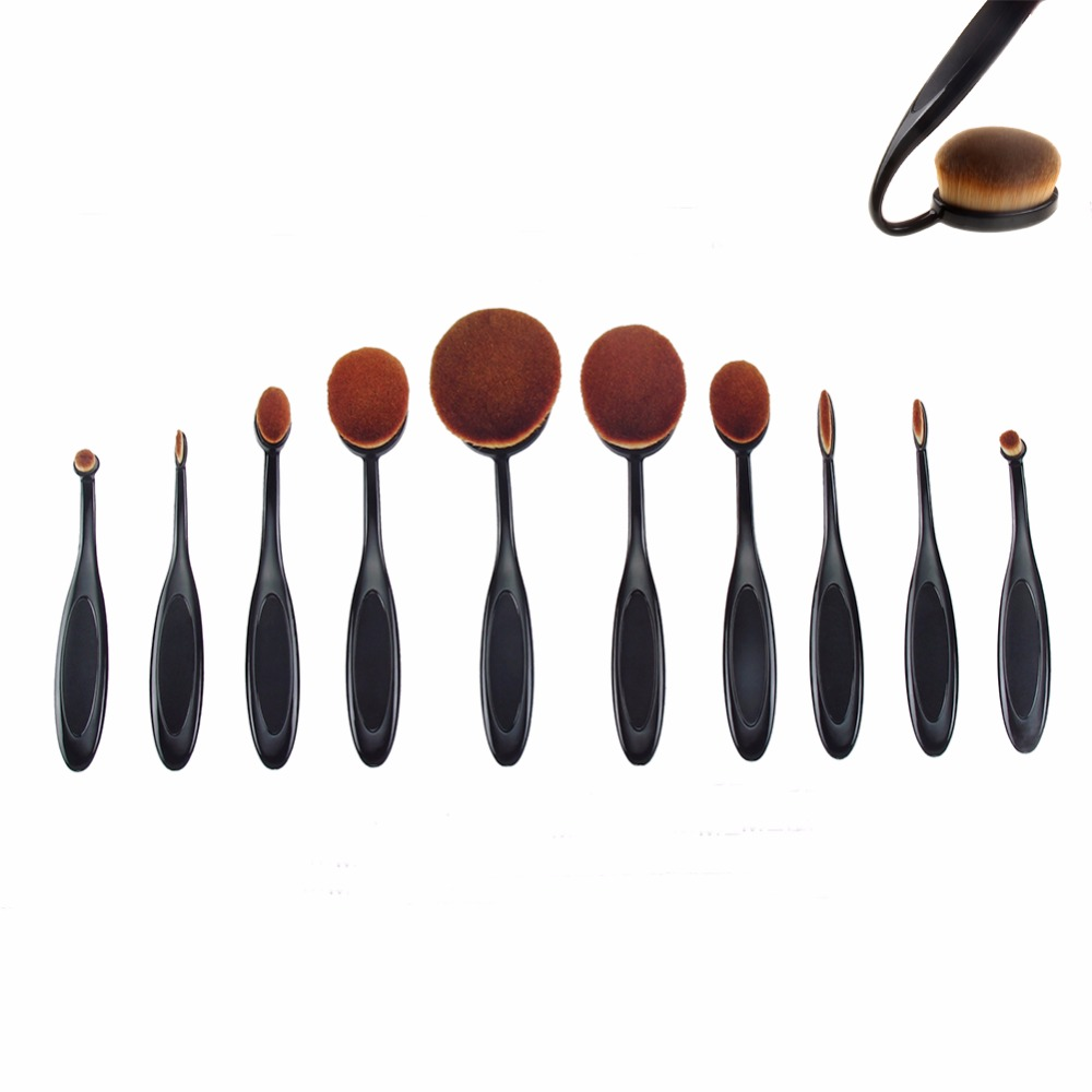 Tooth Makeup Brush,Mermaid Private Label Oval Make Up Brush Set,Makeup Brushes