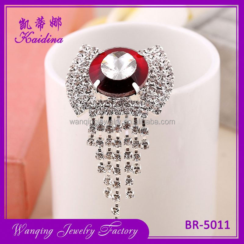 Best selling durable big crystal decorative rhinestone bridal women brooch pins