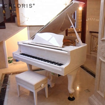 white grand piano hg 168w piano keyboard for sale price buy white piano grand piano prices. Black Bedroom Furniture Sets. Home Design Ideas