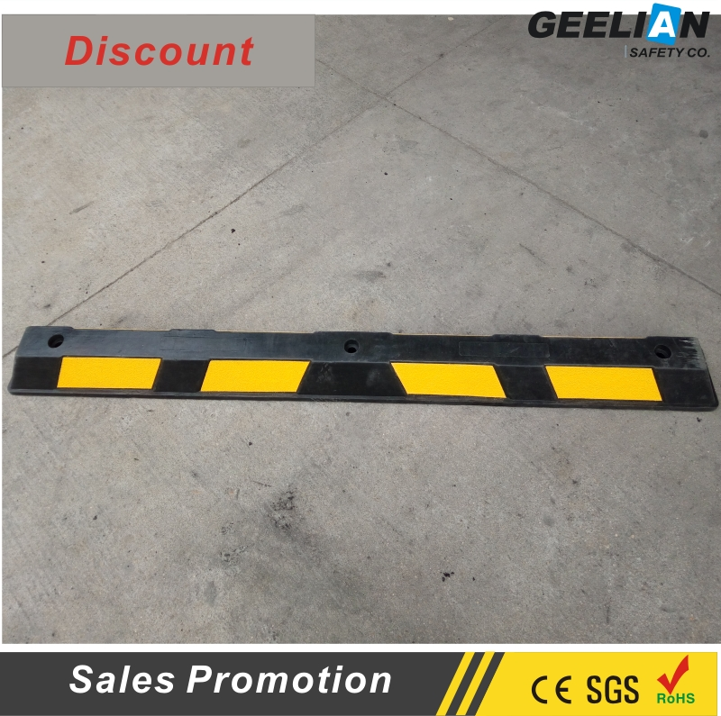 CE 600*120*100mm SOLID rubber stopper car stopper traffic control heavy duty reflective stopper rubber and plastic wheel stop