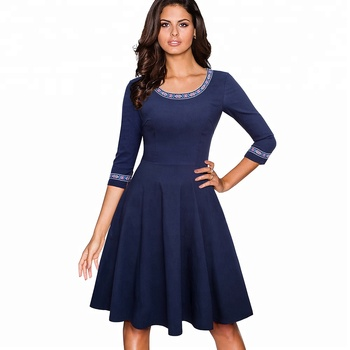 European Style Vintage Party Skater Ladies Dresses