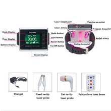 physiotherapy diode wrist lllt laser therapy acupuncture nasal therapeutic apparatus elderly watches instruments