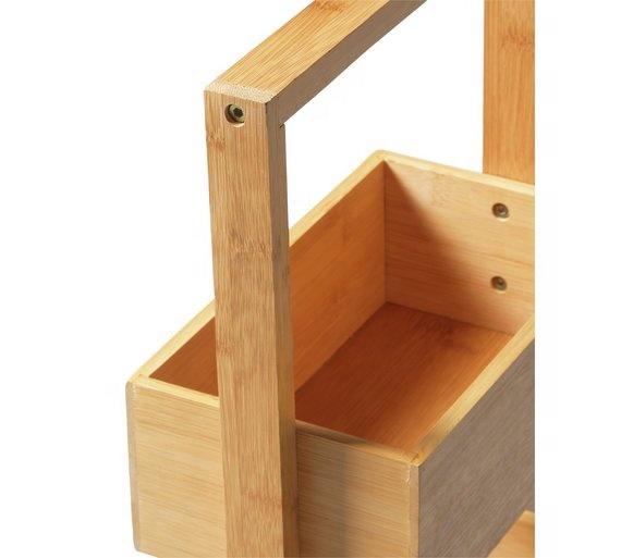 4 Tier Bamboo Bathroom Shower Storage Caddy Bathroom Stationary Caddy 9