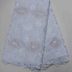 best sale nigeria stones swiss voile white fabric african style 100% cotton voile lace