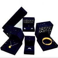 Luxury Ring necklace velvet jewelry box custom logo packaging