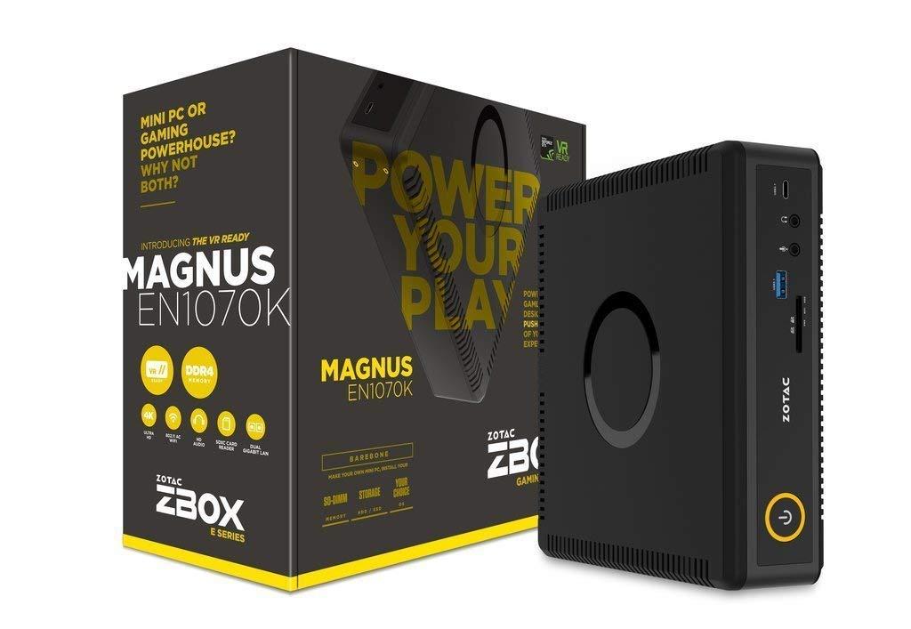 Zotac Magnus Intel Core i5-7500T 2.7GHz/2TB 5400RPM + 500GB M.2 Solid State Drive - 32GB DDR4 SDRAM - Nvidia GeForce GTX 1060 6GB GDDR5 Graphics - Windows 10 Mini Gaming Desktop