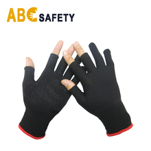 ABC SAFETY nylon knitted Black mini pvc dots hand protect glove