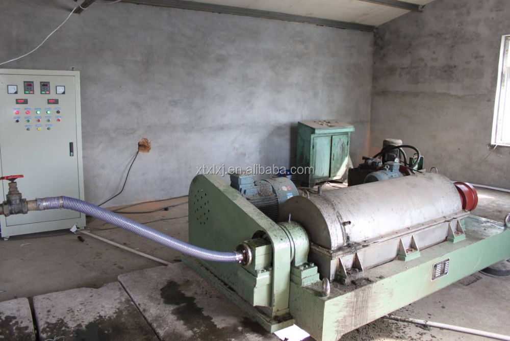 working of decanter centrifuge for organic sludge