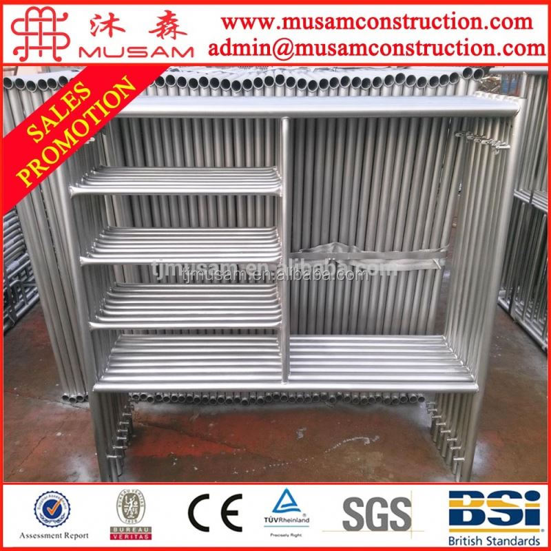 Steel h frame pipe scaffold system parts