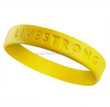 LIVESTRONG LIVE STRONG Inspiration quote silicone BRACELET Lot Lance Armstrong NEW Custom size wristband