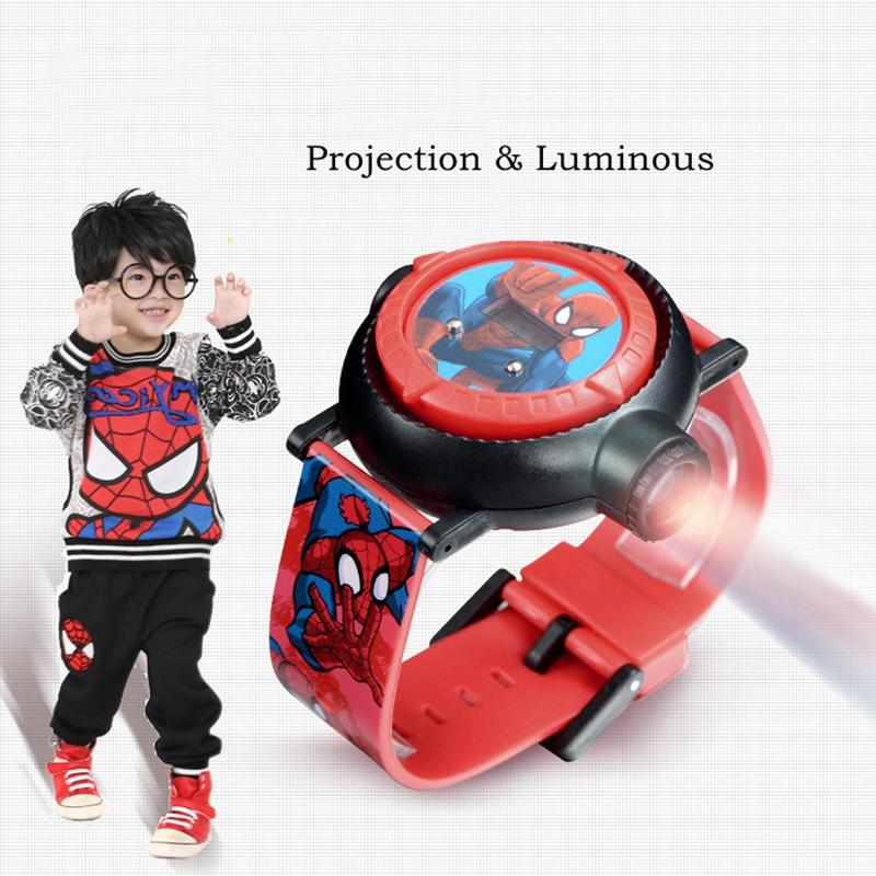 Watches Able Genuine Marvel Spider Man Projection Led Digital Watches Children Cool Cartoon Watch Kid Birthday Gift Disney Boy Girl Clock Toy