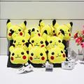 10pcs lot Pikachu Plush Keychain Pendants Stuffed Plush Toy With Ring 8cm Free Shipping
