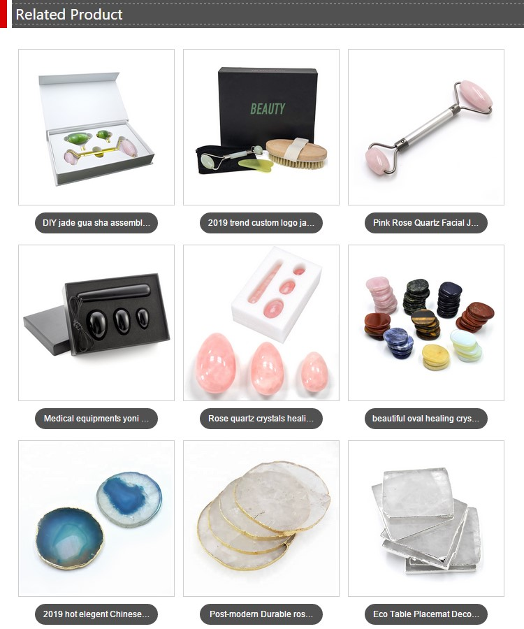Full body handheld jaw neck roller massage natural strawberry quartz jade facial roller