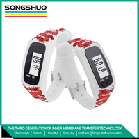 Cheap Silicon Wristband Watch Pedometer For Sports Fashionable design free sample