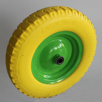 manufacturer high quality cheap flat free PU foam filled wheel 16 inch tractor tires