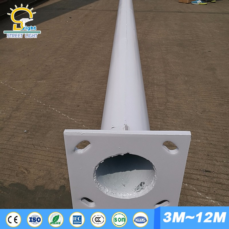 cast iron galvanized street light pole base