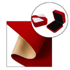 Free sample red color single side self adhesive fabric flocking for jewelry box decoration