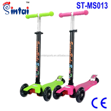 3 Wheels 3Style Mini T-Bar Scooters Tilt Kick Scooter with LED Wheels
