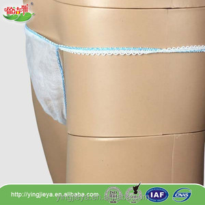 Disposable nonwoven women's brief for hospital