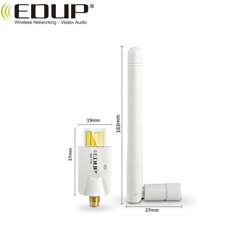 EDUP Stock Products 150Mbps 2.4GHz Whiter Wireless Dongle USB WiFi adapter With Ralink5370 Chipset For laptop&desktop