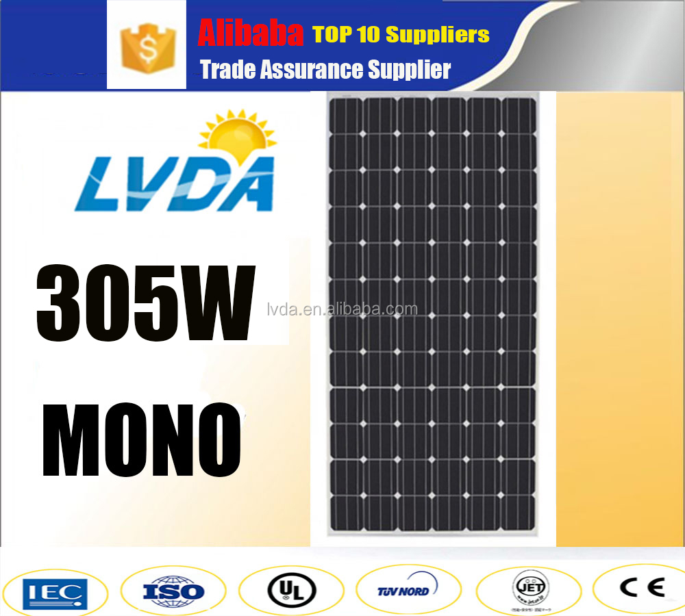 China best supplier Export high quality top power wholesale 290w 300w 305w 310w315w 320w mono solar panel